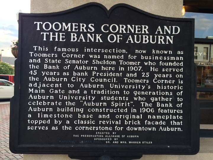 Bank of Auburn Toomer's Corner